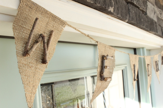 Burlap & Stick Welcome Banner